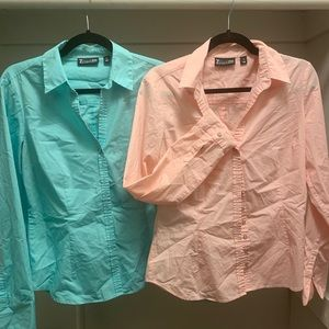 New York and Company Dress Button Down Tops